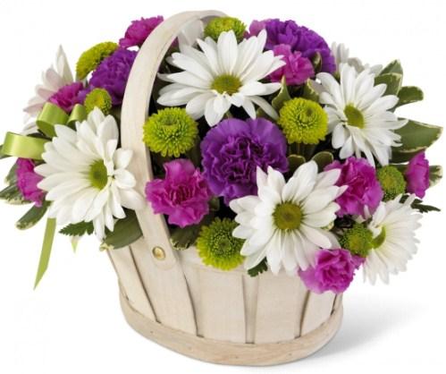 Цветочная корзина - это праздник
