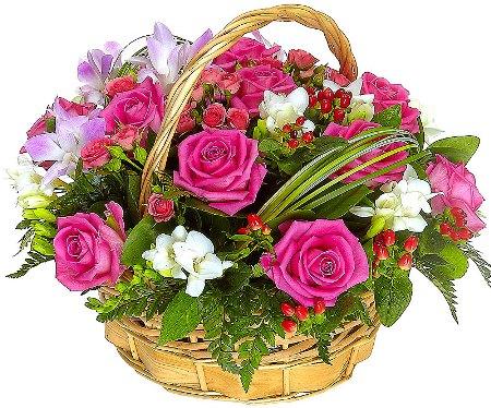 Как подобрать цветочную корзину для подарка