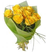 9 жёлтых роз