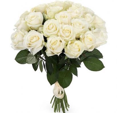 Букет 25 роз Аваланш