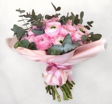 Свадебный букет «Розовый салют»