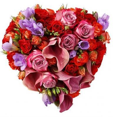 Свадебный букет «Сердечко»