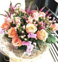 Цветы в корзине «Утро в Риме»