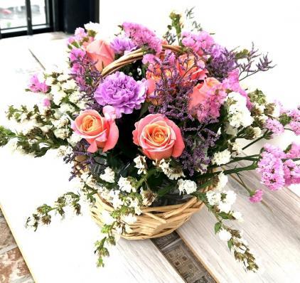 Корзинка с цветами «Доброе утро»