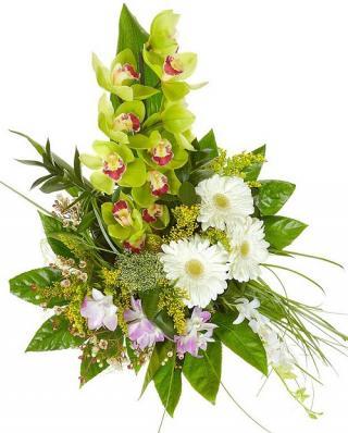 Цветы с орхидеей на первое сентября