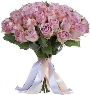 25 лиловых роз