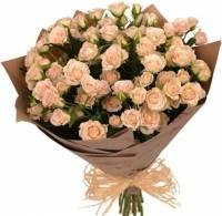 Композиция из 25 кустовых роз  «Доброе утро»