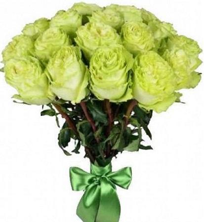 15 зелёных роз