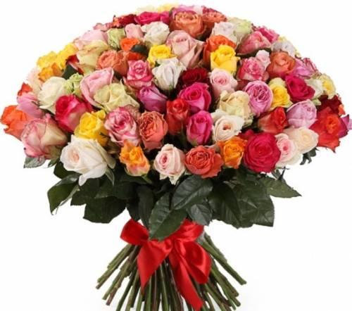 Микс из шикарной 101 розы