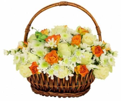 """Корзина с цветами из роз """"Ностальгия"""""""