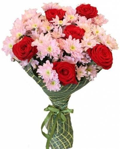 Букет на День матери из красной розы