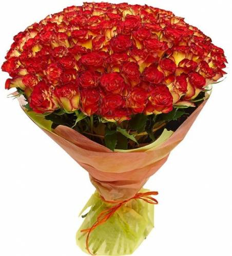 Композиция из розы Хай Мэджик на День рождения