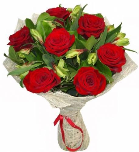 Букет из 7 роз на День учителя