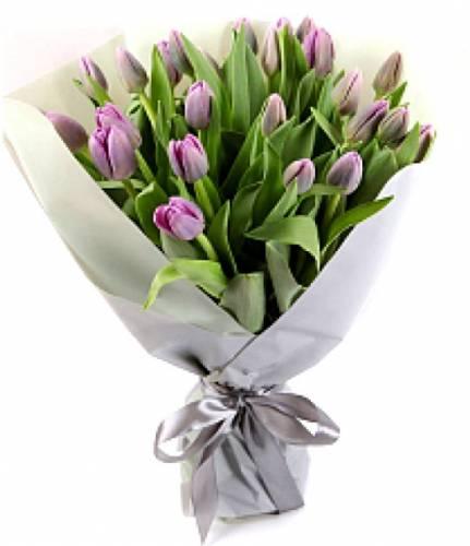 Цветочная история из 23 тюльпанов