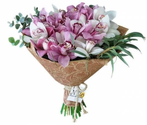 Букет с орхидеей на День рождения