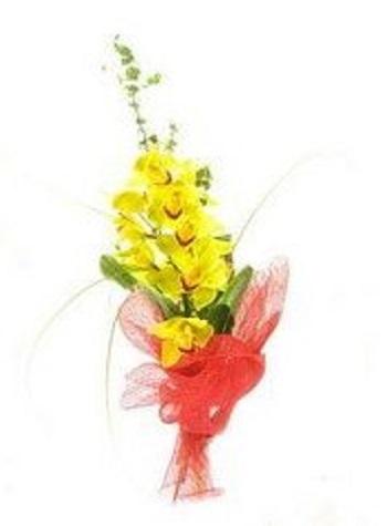 Композиция из жёлтой орхидеи для руководителя