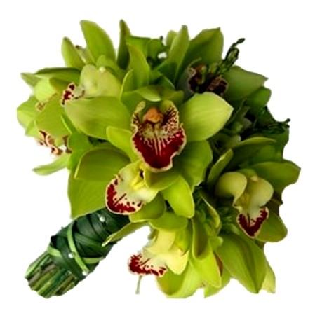 Композиция из орхидей для невесты