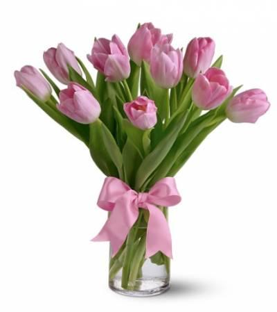 11 фиолетовых тюльпанов на 8 марта