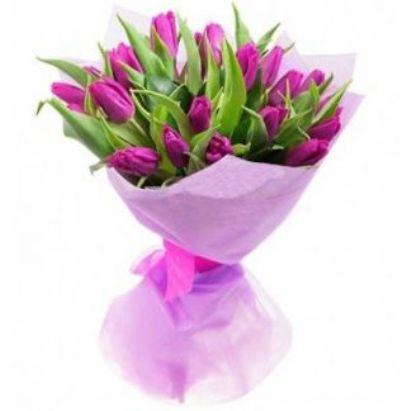 Букет из 21 тюльпана на 8 марта